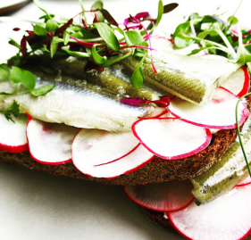 fish and radishes